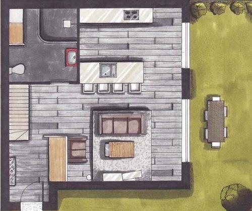 plan appartement avec mezzanine